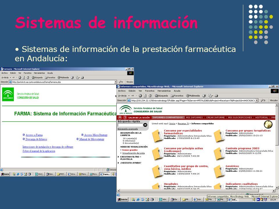Sistemas de información Sistemas de información de la prestación farmacéutica en Andalucía: