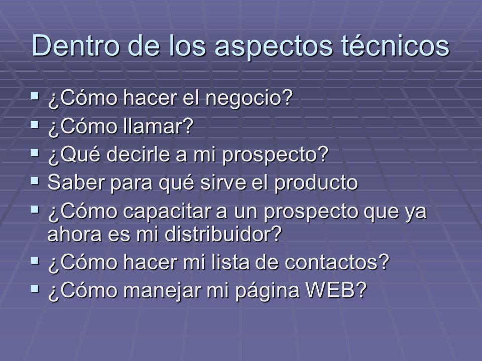 Dentro de los aspectos técnicos ¿Cómo hacer el negocio.
