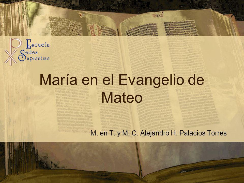 María en el Evangelio de Mateo M. en T. y M. C. Alejandro H. Palacios Torres