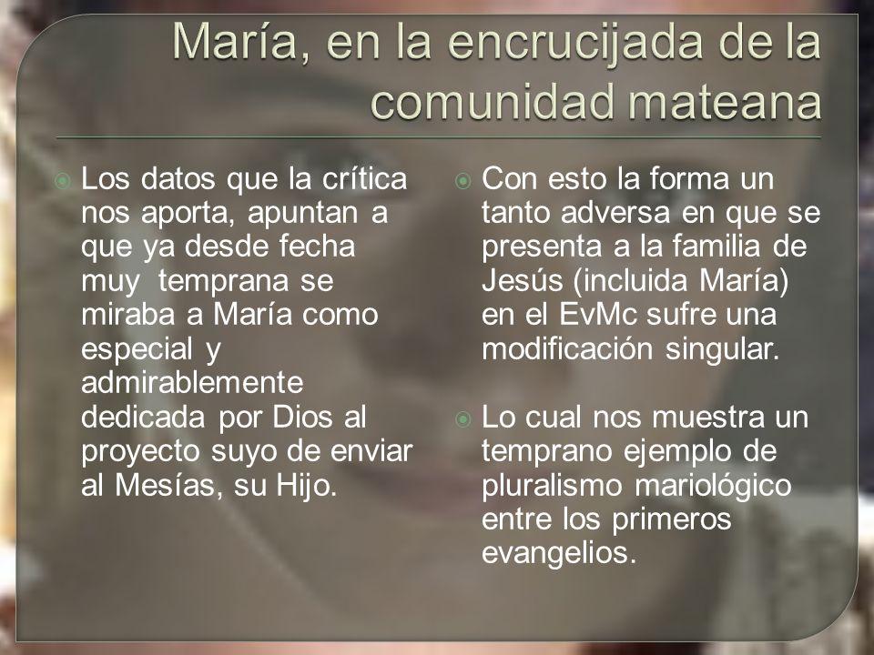 Los datos que la crítica nos aporta, apuntan a que ya desde fecha muy temprana se miraba a María como especial y admirablemente dedicada por Dios al proyecto suyo de enviar al Mesías, su Hijo.