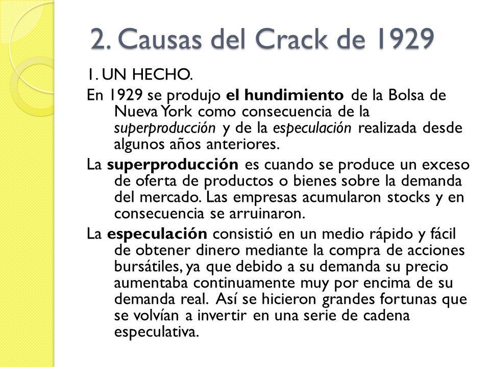 2.Causas del Crack de 1929 2. Causas del Crack de 1929 1.