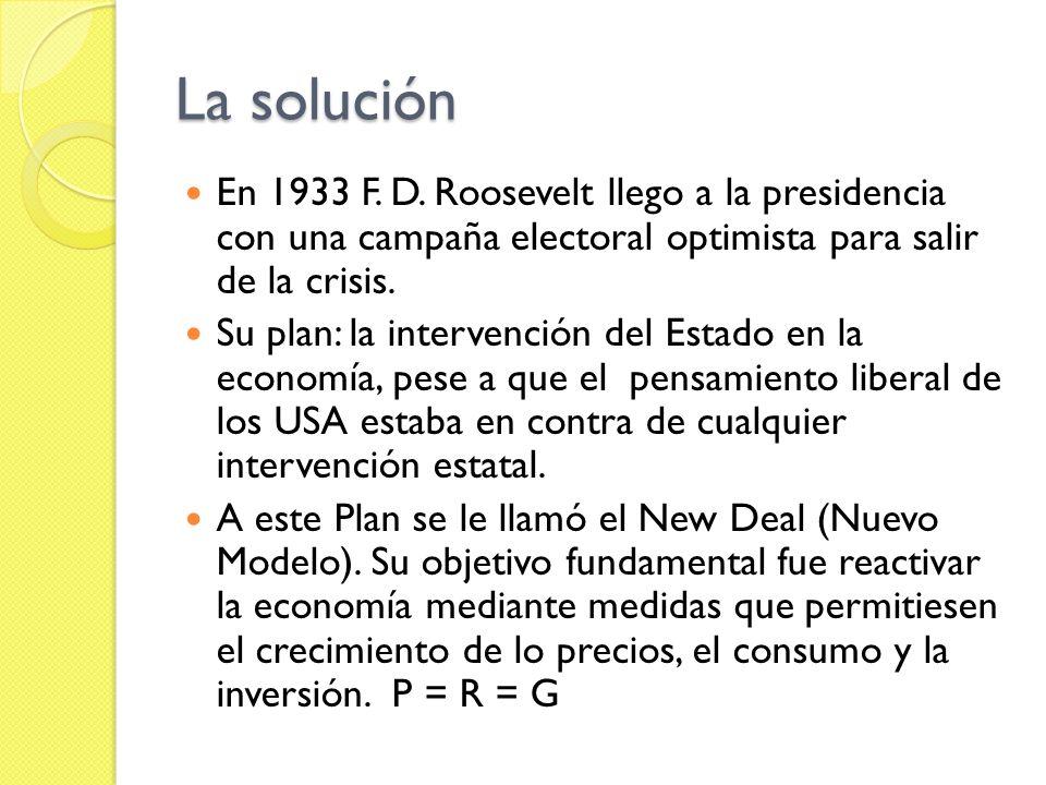 La solución En 1933 F.D.