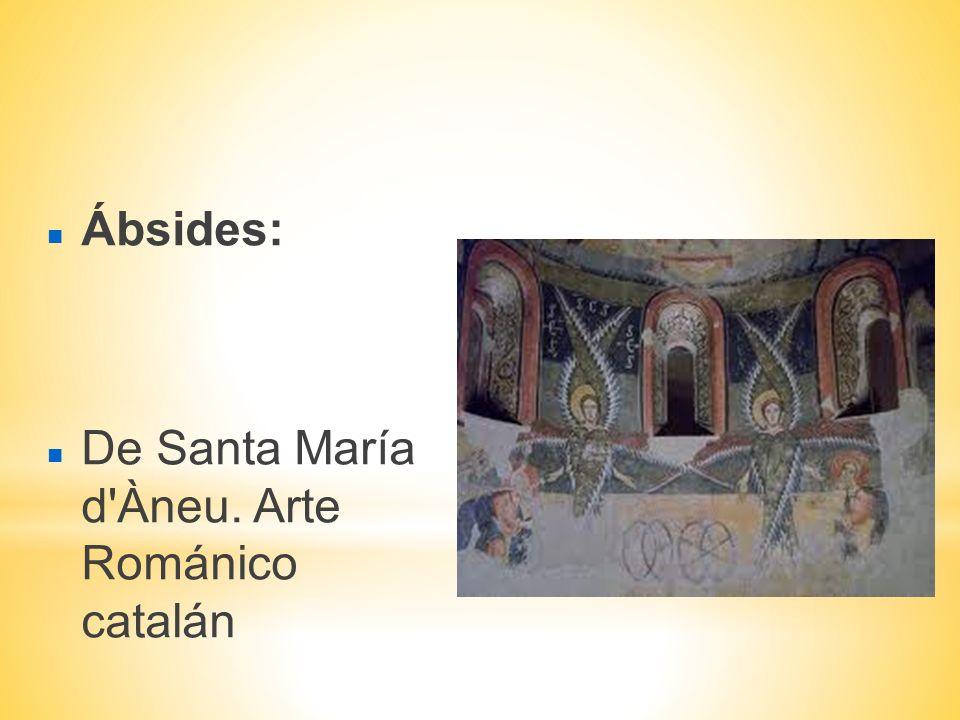 Ábsides: De Santa María d'Àneu. Arte Románico catalán