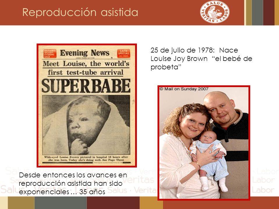 Reproducción asistida 25 de julio de 1978: Nace Louise Joy Brown el bebé de probeta Desde entonces los avances en reproducción asistida han sido expon