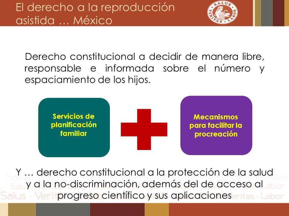 Derecho constitucional a decidir de manera libre, responsable e informada sobre el número y espaciamiento de los hijos. Servicios de planificación fam
