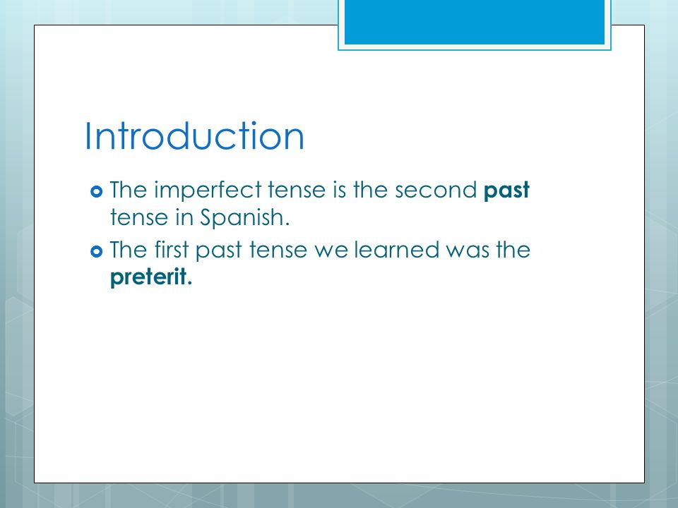The preterit The preterit is used to talk about completed past actions.