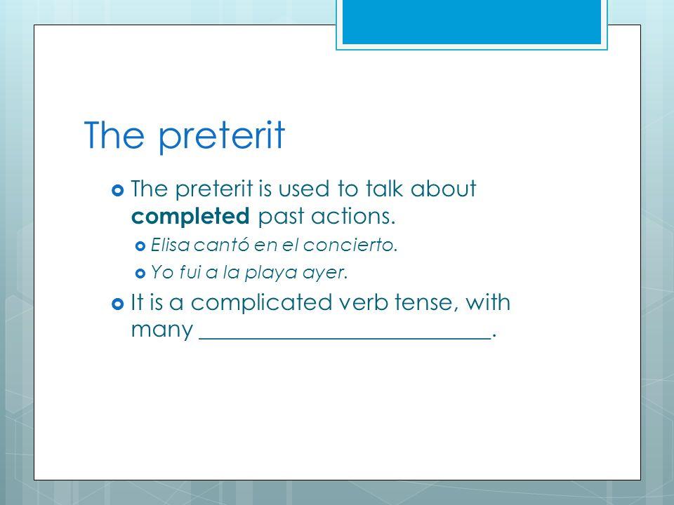 Regular –er/--ir Verbs in the Imperfect