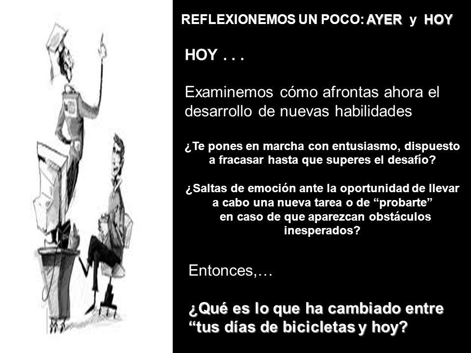AYER HOY REFLEXIONEMOS UN POCO: AYER y HOY HOY...