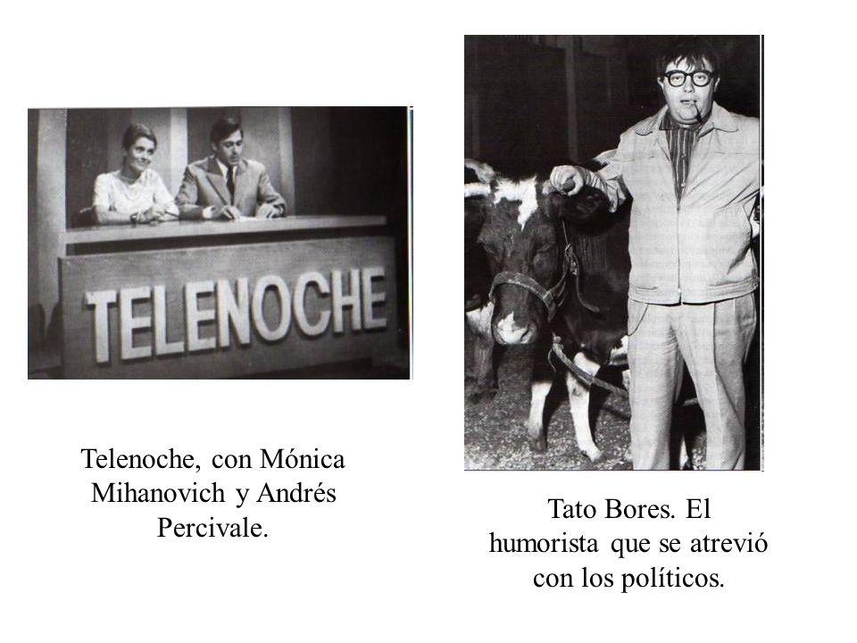 Telenoche, con Mónica Mihanovich y Andrés Percivale. Tato Bores. El humorista que se atrevió con los políticos.