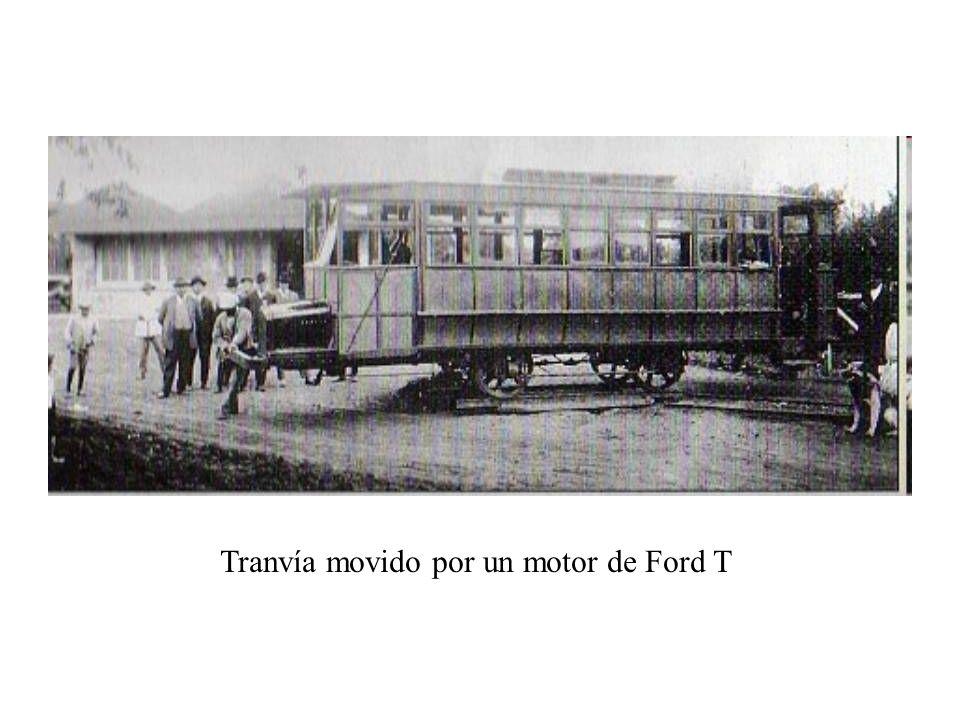 Tranvía movido por un motor de Ford T