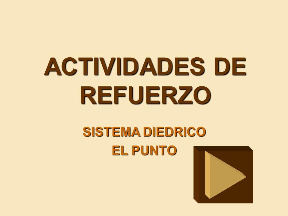 ACTIVIDADES DE REFUERZO SISTEMA DIEDRICO EL PUNTO