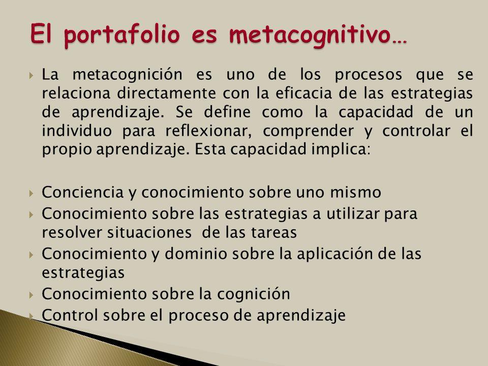 La metacognición es uno de los procesos que se relaciona directamente con la eficacia de las estrategias de aprendizaje. Se define como la capacidad d