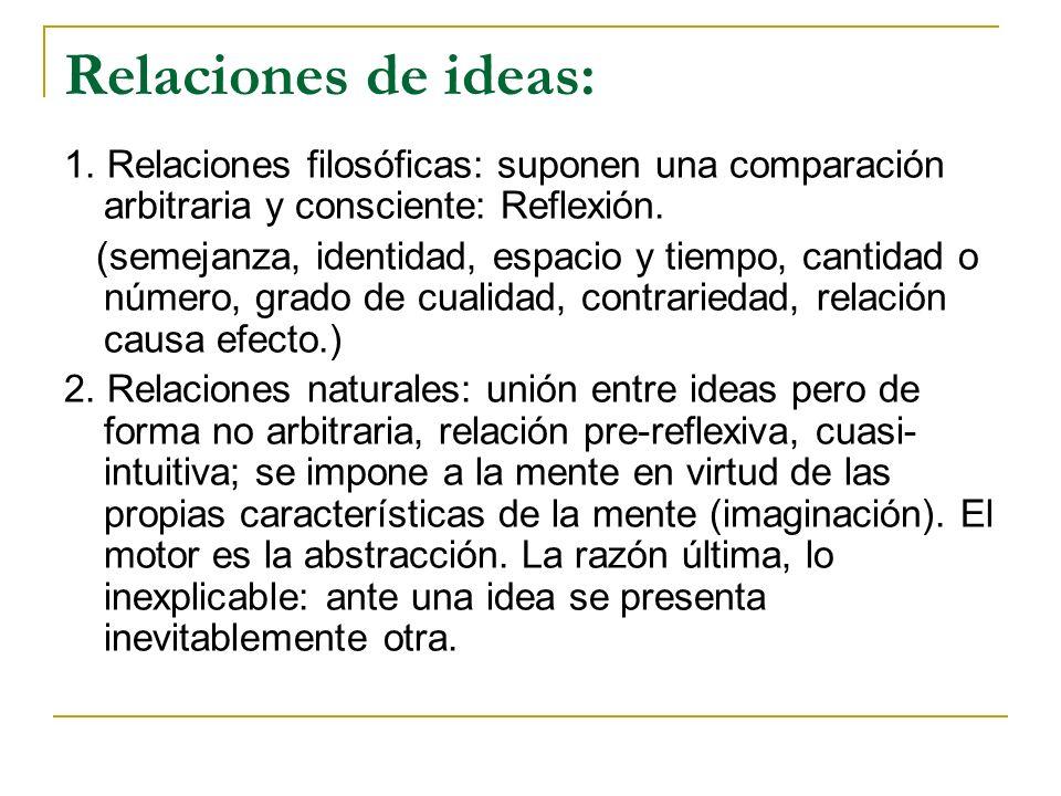 Relaciones de ideas: 1.