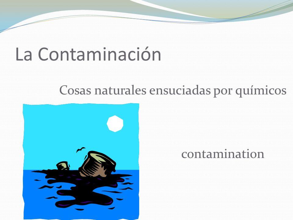 La Contaminación Cosas naturales ensuciadas por químicos contamination