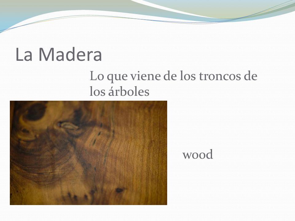 La Madera Lo que viene de los troncos de los árboles wood