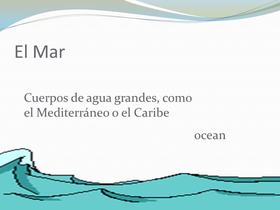 El Mar Cuerpos de agua grandes, como el Mediterráneo o el Caribe ocean