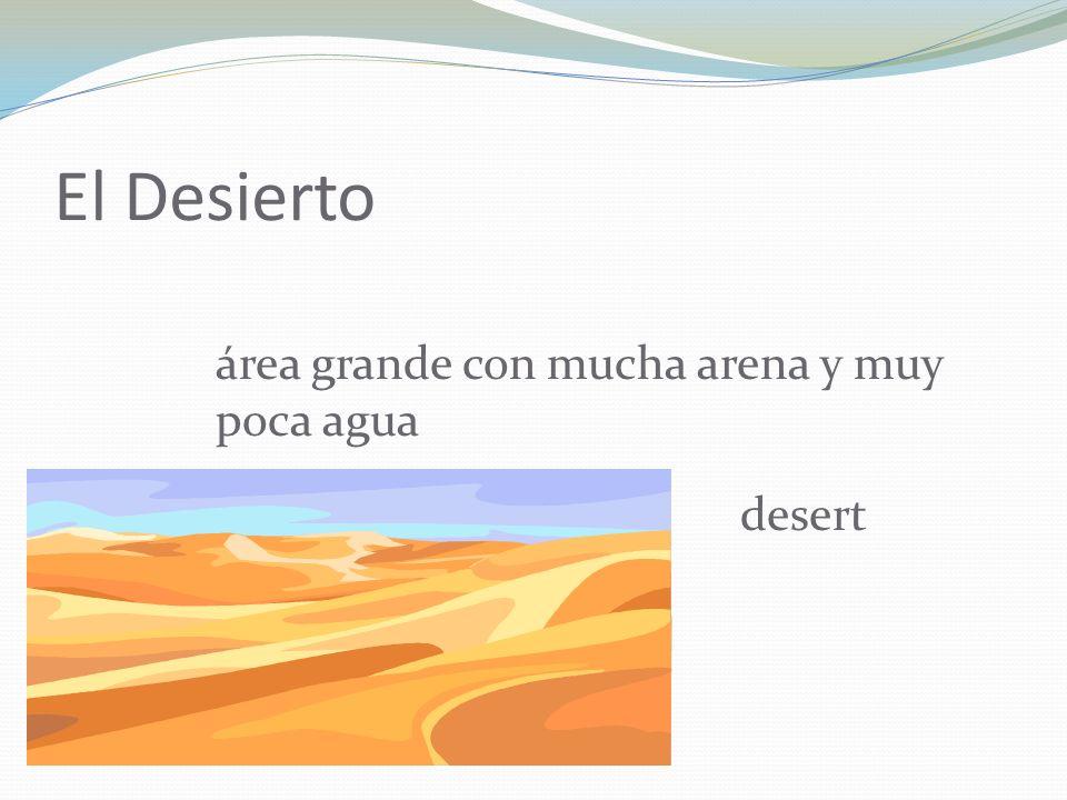 El Desierto área grande con mucha arena y muy poca agua desert
