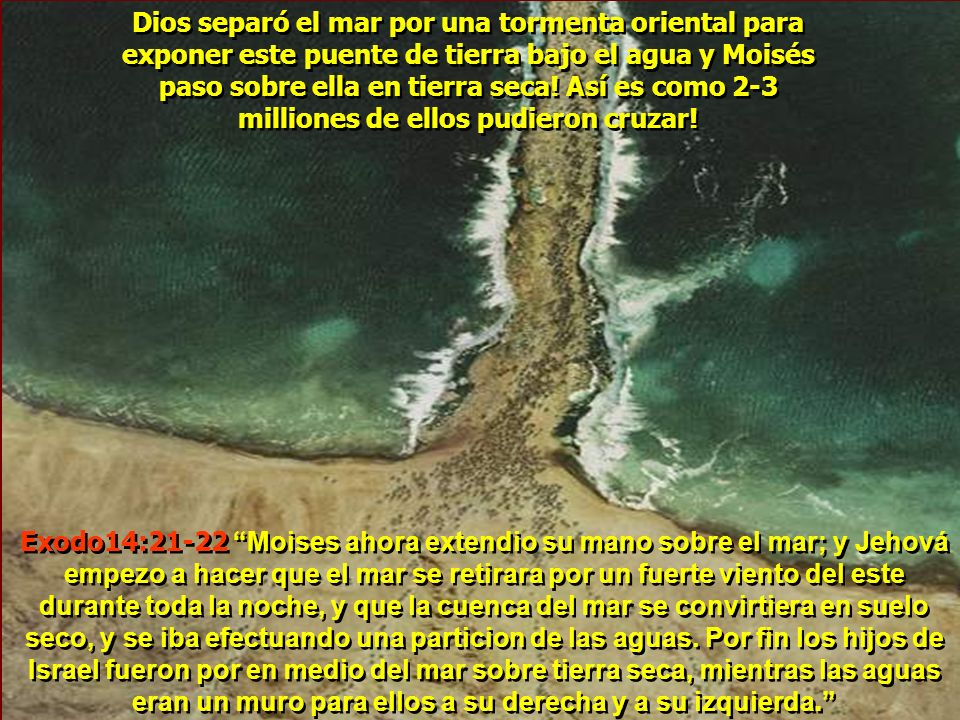 Comprobación de las mediciones de profundidad, Wyatt descubrió un puente de tierra bajo el agua exactamente entre la Playa de Nuweiba y la parte de Ar