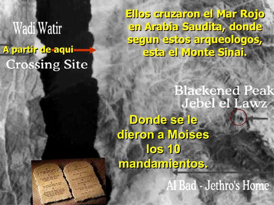 Wyatt ha encontrado 2 pilares del rey Salomón puesto en ambas playas para conmemorar el cruce del Mar Rojo! En letras fenicias (Arcaico hebreo), que c