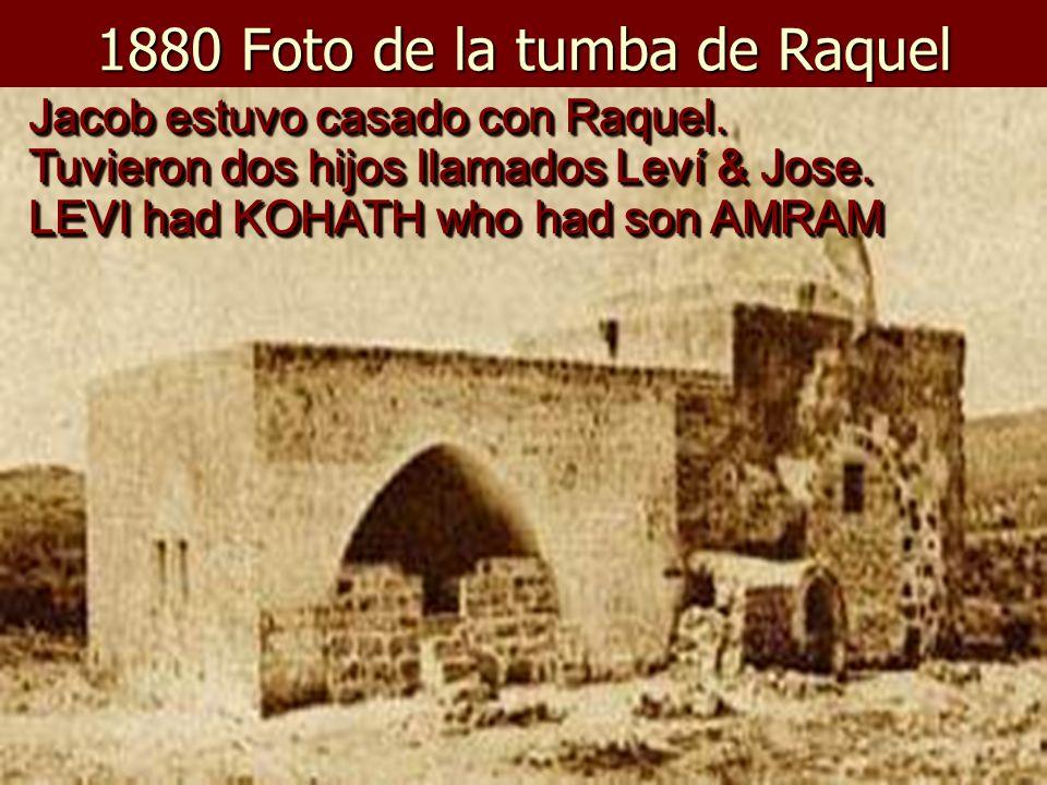 1880 Foto de la tumba de Raquel Jacob estuvo casado con Raquel.