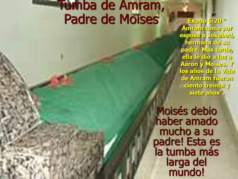 Moisés debio haber amado mucho a su padre.Esta es la tumba más larga del mundo.