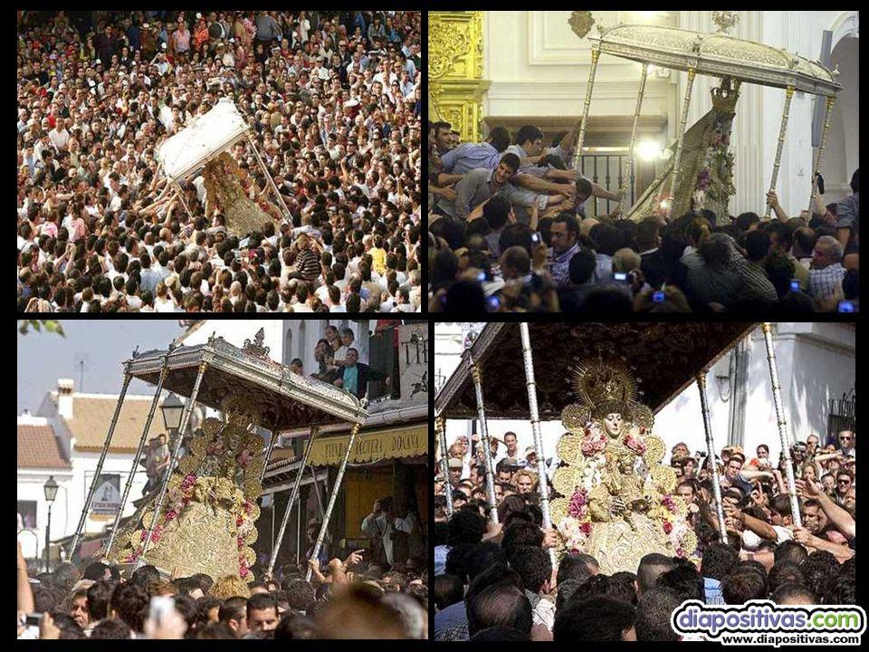 Apretarse almonteños, que se acerca la lucha El plato fuerte de la Romería es la procesión de la Reina de las Marismas.