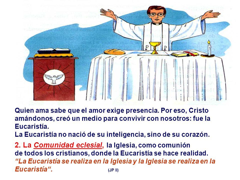 1.La Eucaristía o la Cena del Señor: como memorial de su gloriosa Pasión y Muerte.
