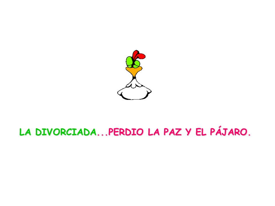 LA DIVORCIADA...PERDIO LA PAZ Y EL PÁJARO.
