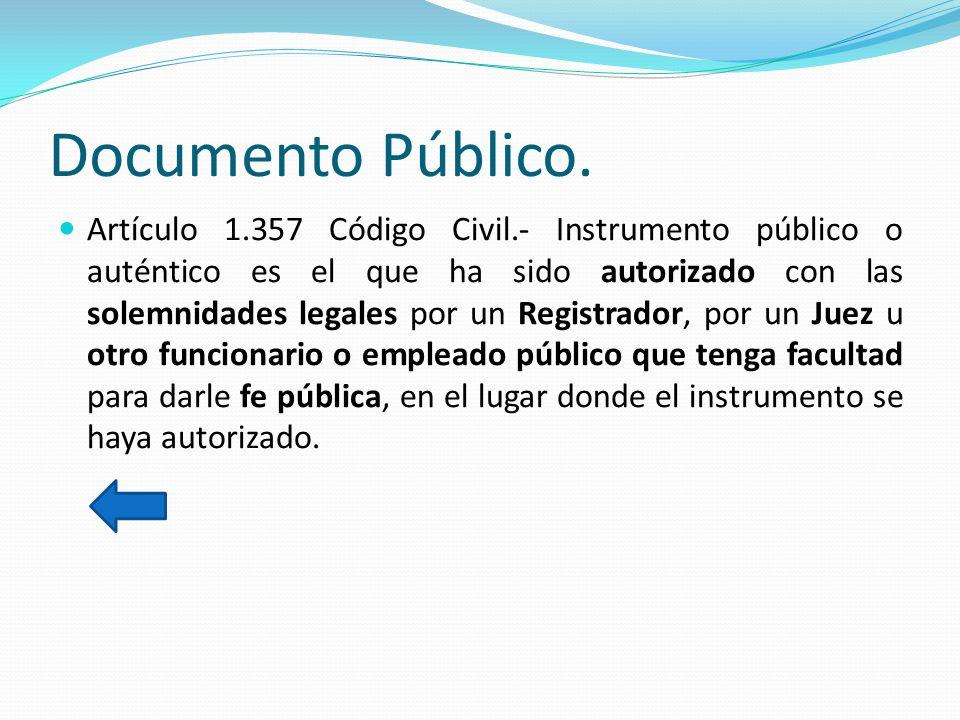 Documento Público.