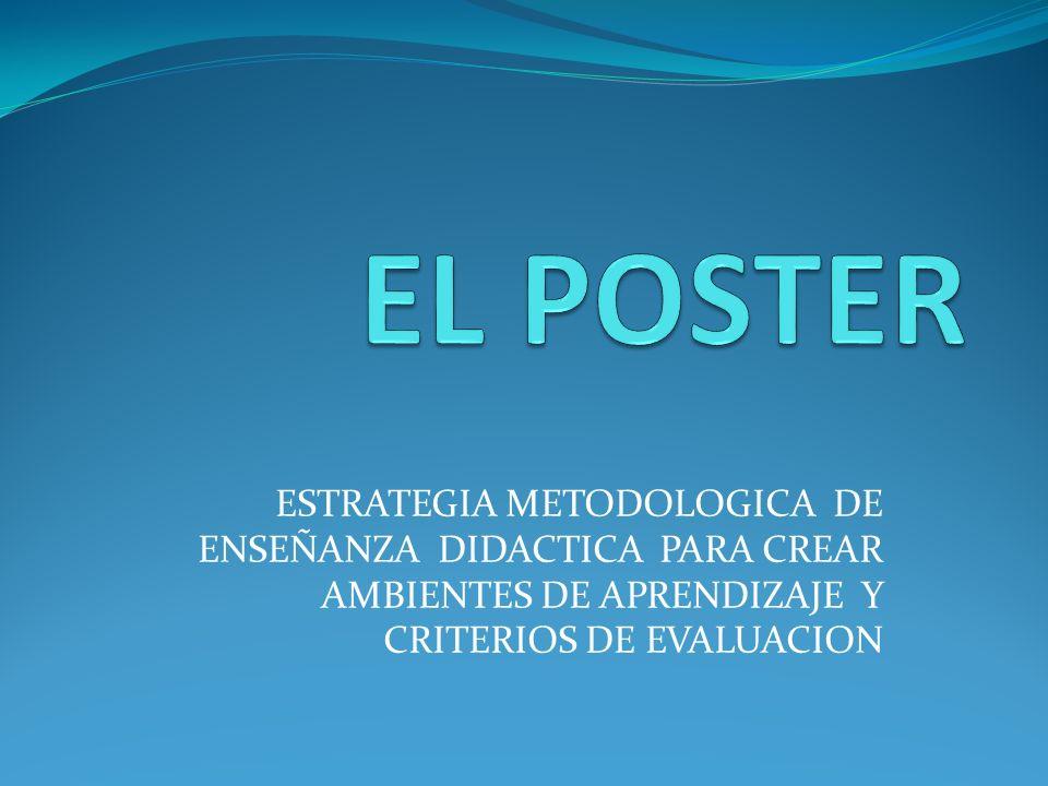 EL POSTER La palabra póster es un término de origen inglés, con el que se suele designar a los carteles.