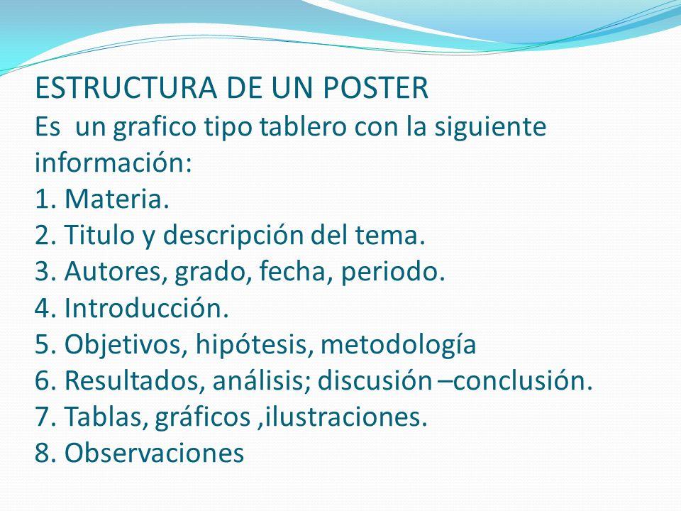 ¿Cómo evaluar con el Poster.1. Los alumnos miran los pósteres y anotan sus conceptos sobre ellos.