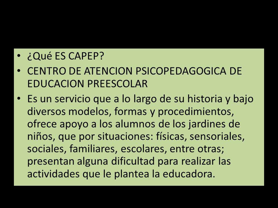 LINEA DEL TIEMPO ( EL SURGIMIENTO DEL CAPEP ) AÑO 1993 Surgió la propuesta de que había necesidad del CAPEP.