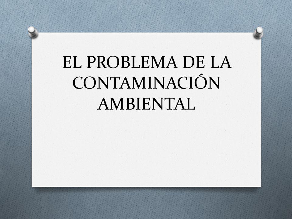 EL PROBLEMA DE LA CONTAMINACIÓN AMBIENTAL