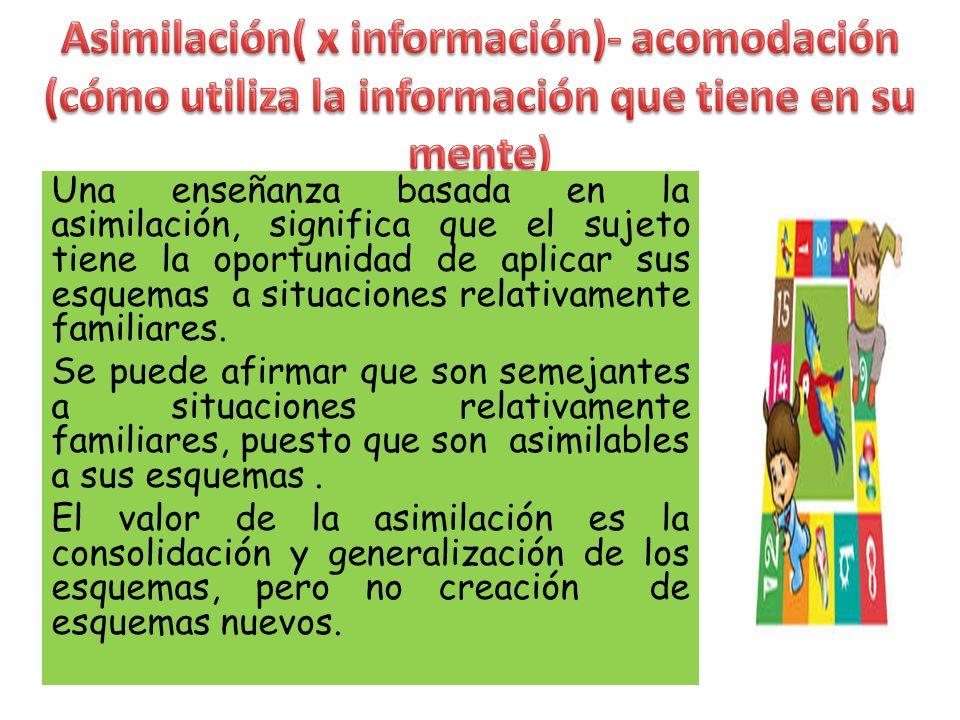 El pensamiento se estructura a través de esquemas : patrón organizado de pensamiento o acción que construye un niño para dar sentido a algún aspecto d