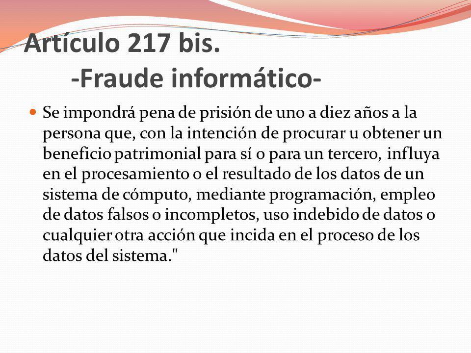 Artículo 229 bis.