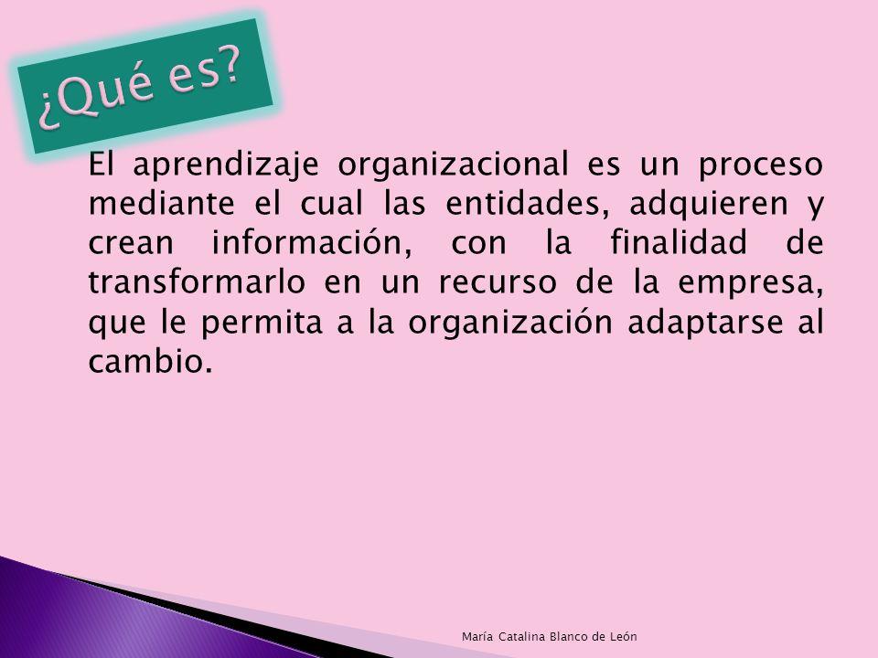 El aprendizaje organizacional es un proceso mediante el cual las entidades, adquieren y crean información, con la finalidad de transformarlo en un rec