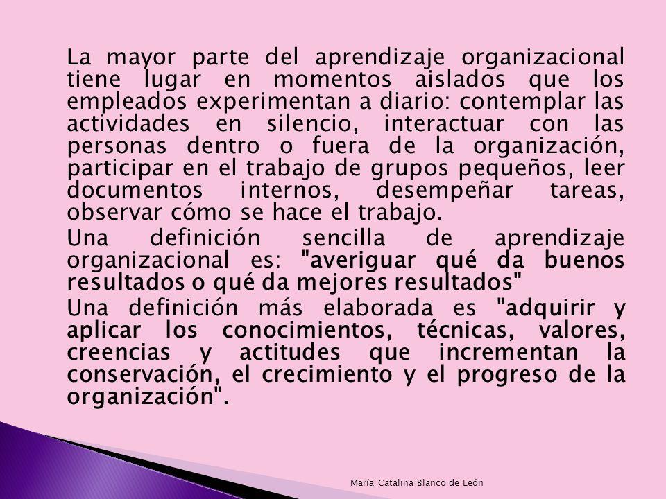 El estudio sobre el aprendizaje organizacional se inició en 1963 con la obra de Richard Cyert y James March.
