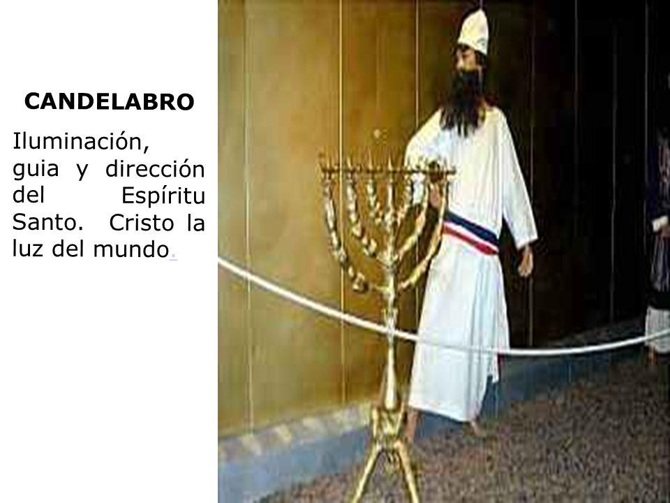 CANDELABRO Iluminación, guia y dirección del Espíritu Santo. Cristo la luz del mundo..