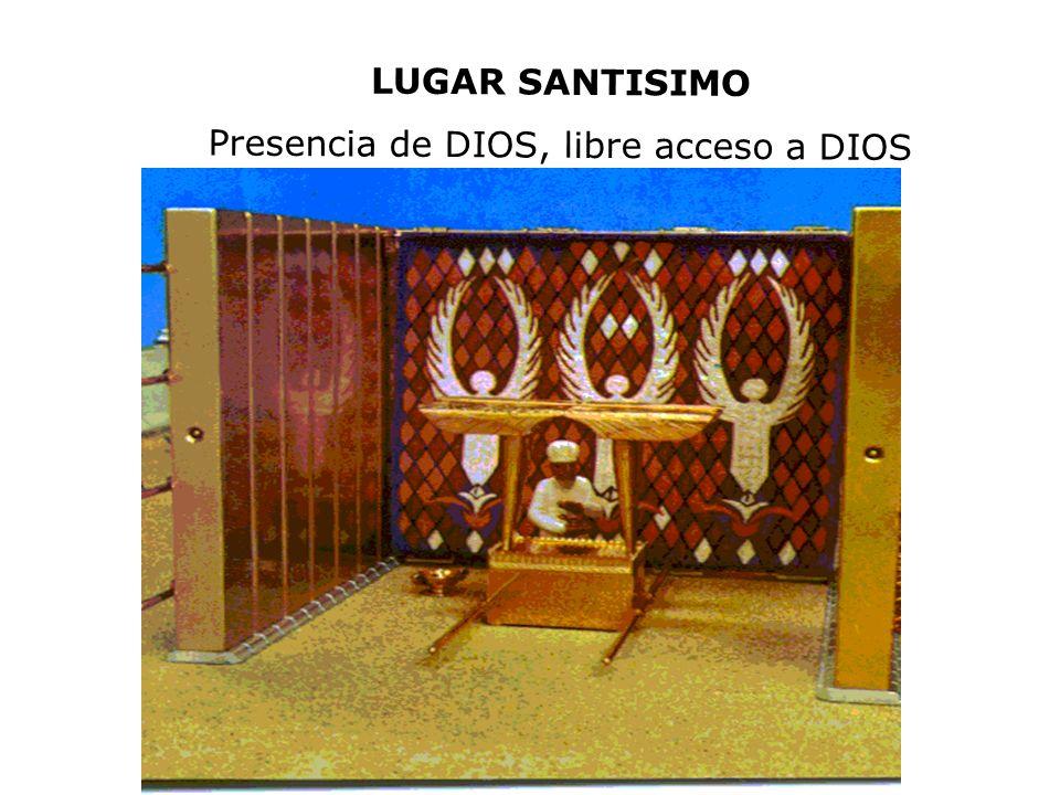 LUGAR SANTISIMO Presencia de DIOS, libre acceso a DIOS