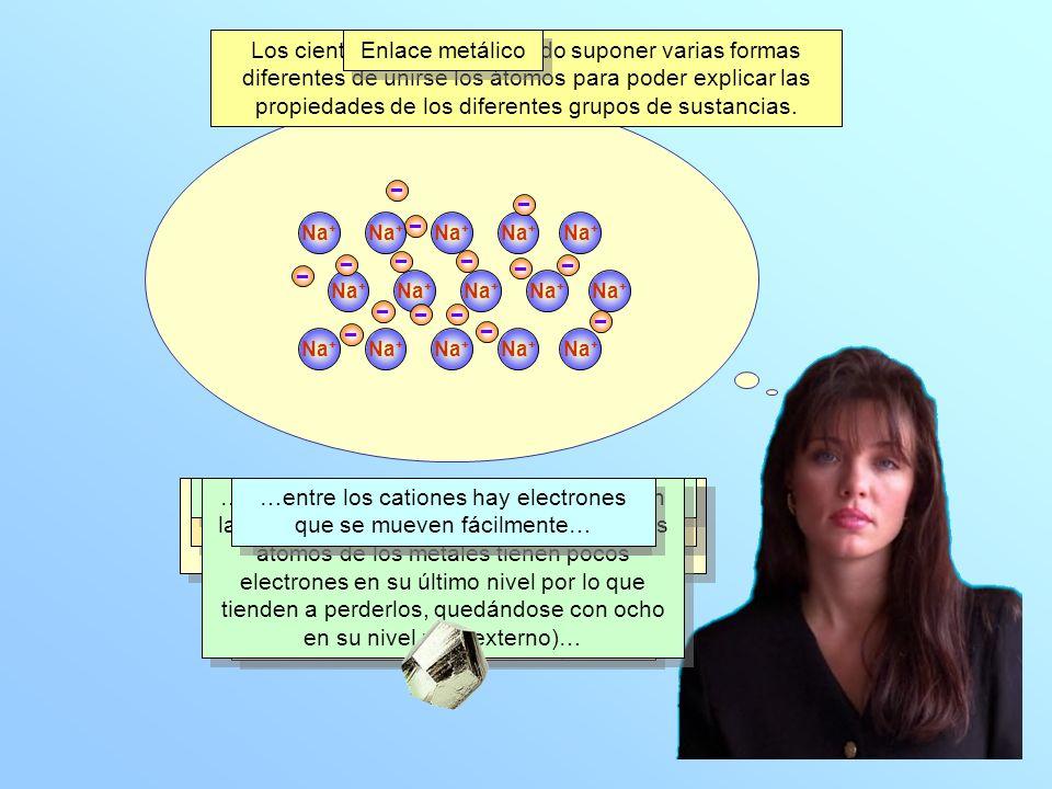 La atracción entre los cationes y los electrones es intensa y, por consiguiente, son sustancias con puntos de fusión y ebullición altos.