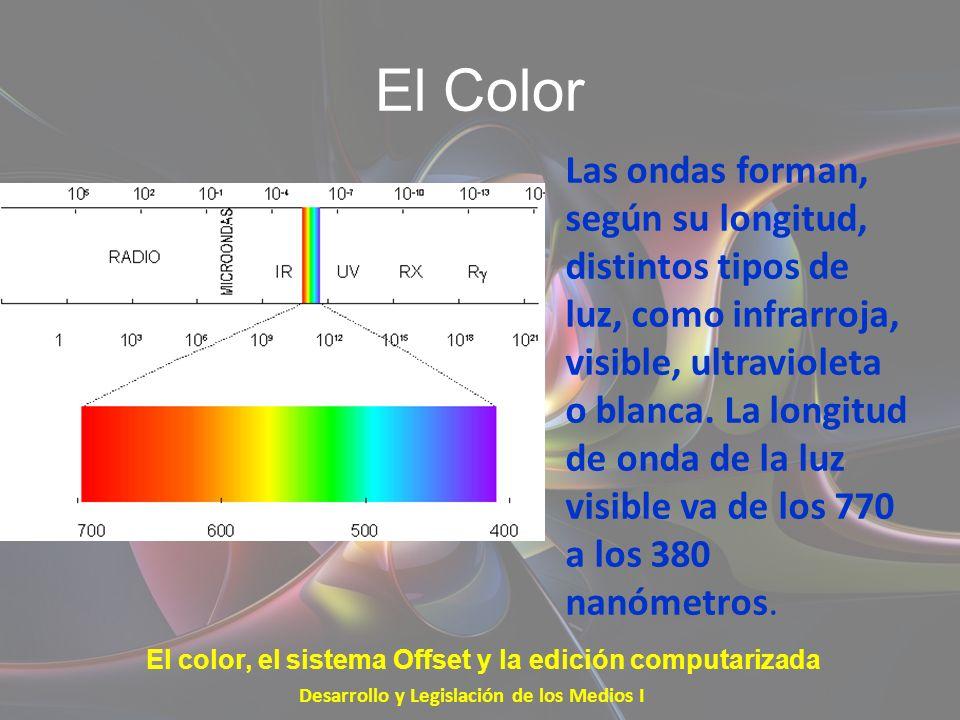 El Color Los objetos devuelven hacia su entorno la luz que no absorben.