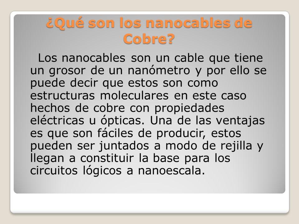 ¿Qué son los nanocables de Cobre.