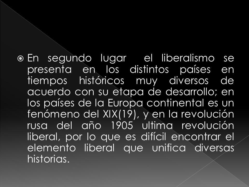 En el tercer lugar no es posible hablar de una historia- difusión del liberalismo, a pesar de que el modelo de desarrollo político ingles ejerció un influjo determinante, superior al de las constituciones francesas de la era revolucionaria.