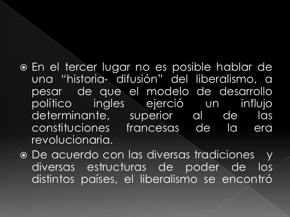 El liberalismo se halla ligado a la historia latinoamericana desde los orígenes mismos de las naciones independiente de esta parte del mundo, en definitiva buena parte de las ideas que generalmente aparecen ligadas al tema liberal circularon durante el periodo preindependentista como aroma justifica torio de la necesidad de romper un vinculo colonial.