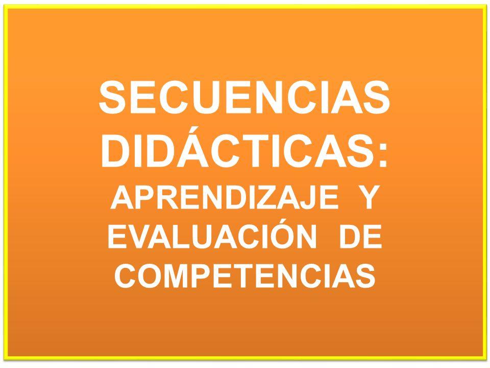SECUENCIAS DIDÁCTICAS: APRENDIZAJE Y EVALUACIÓN DE COMPETENCIAS