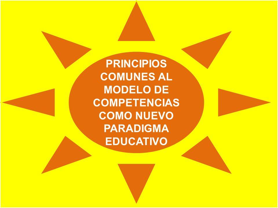 PRINCIPIOS COMUNES AL MODELO DE COMPETENCIAS COMO NUEVO PARADIGMA EDUCATIVO