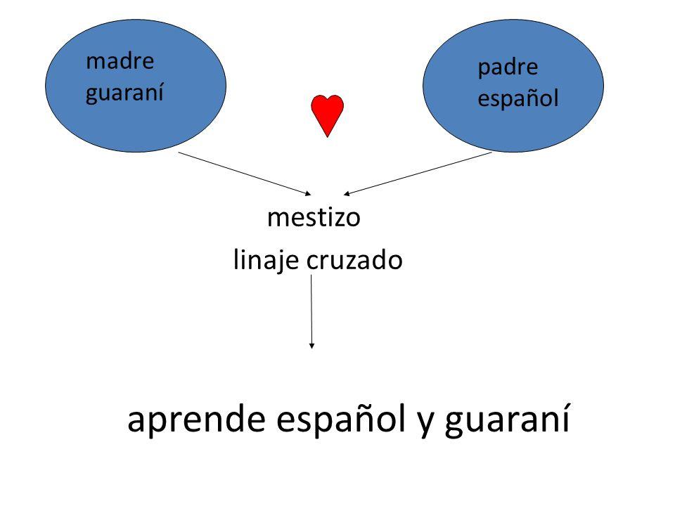 aprende español y guaraní mestizo linaje cruzado madre guaraní padre español
