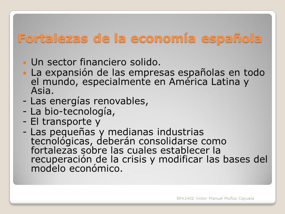 Fortalezas de la economía española Un sector financiero solido.