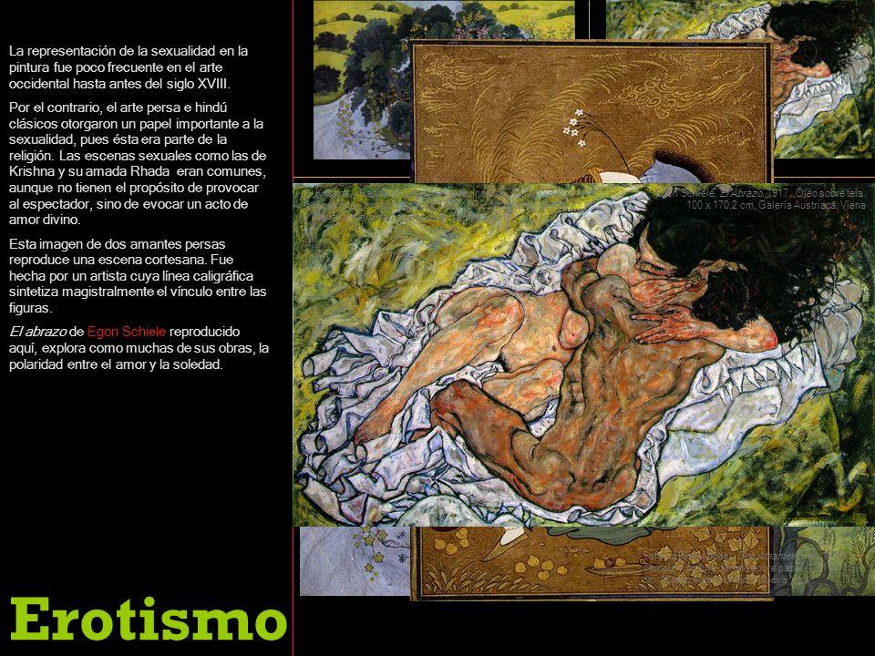 La representación de la sexualidad en la pintura fue poco frecuente en el arte occidental hasta antes del siglo XVIII. Por el contrario, el arte persa