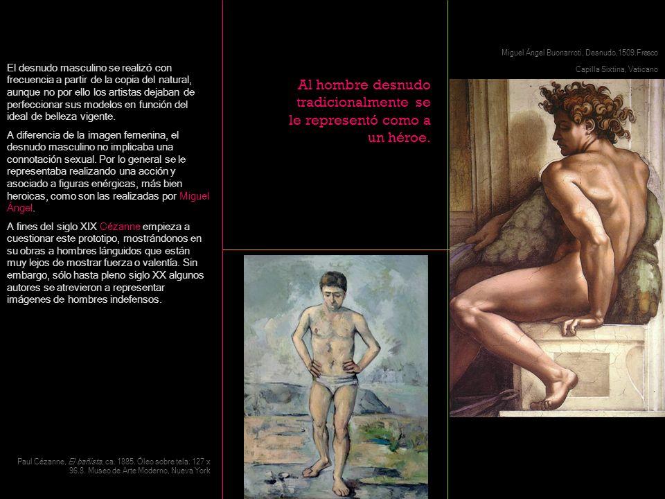 El desnudo masculino se realizó con frecuencia a partir de la copia del natural, aunque no por ello los artistas dejaban de perfeccionar sus modelos e